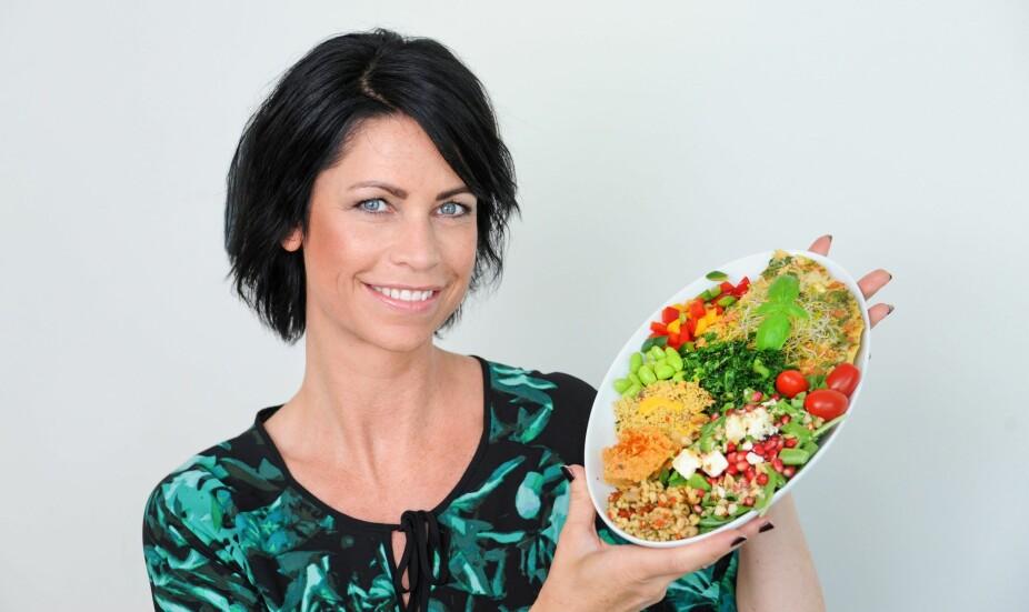 <b>SMAKER:</b> Liv-Karin måtte finne ut hvilke sunne matvarer og smakskombinasjoner hun likte.