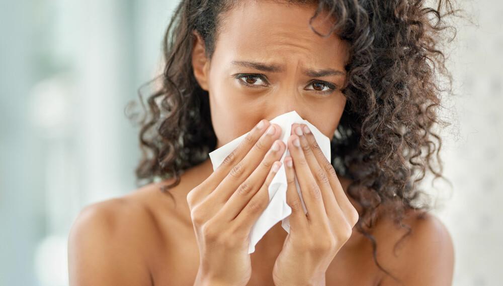 LANGVARIG FORKJØLELSE: Høst og vinter er høysesong for forkjølelse, og sykdommen kan ofte vedvare.