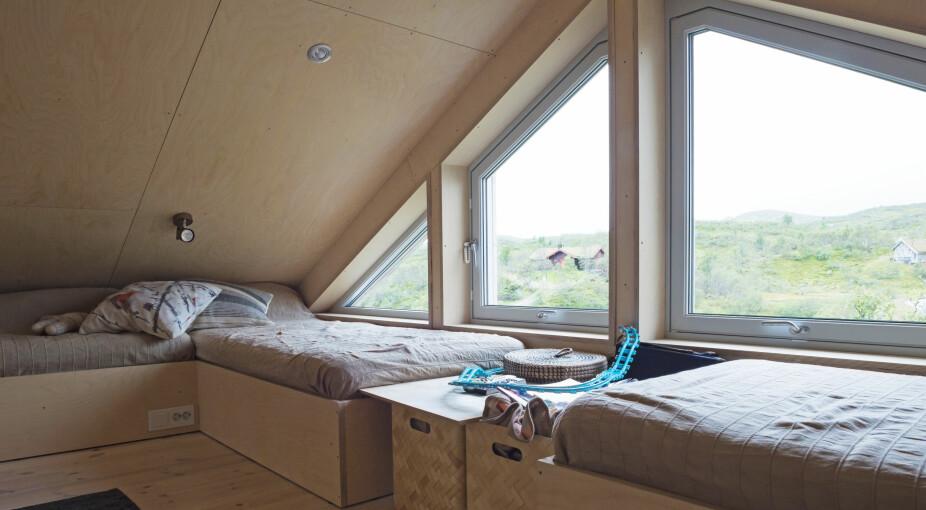 SOV I RO: Barna sover på hemsen og kan nyte en fantastisk utsikt fra sengene.