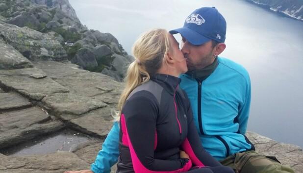 KLATRING OG FJELLTURER: Tonje og Pål-André elsker å klatre og å dra på fjellturer, men opplevde at egne behov kom i andre rekke etter at de fikk barn.