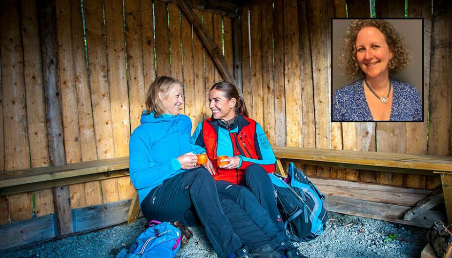 TID I HVERDAGEN: Å ha gode venner som stiller opp er ikke gitt og derfor prioriterer jeg også å sette av tid til å pleie vennskapet, forteller Kristin (Til venstre).