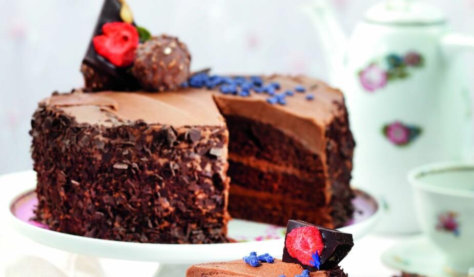 SAFTIG SJOKOLADEKAKE: Denne sjokoladekaken er ekstra saftig.