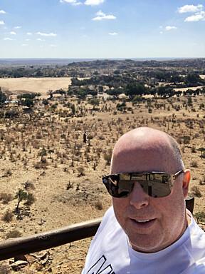 <b>UHELDIG I AFRIKA:</b> Jan Tore Kjær har vært i Sør-Afrika én gang tidligere. Da falt han av en hest og brakk fem ribbein.