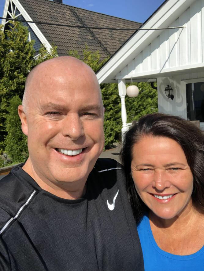 <b>GODT GIFT:</b> 50-åringen er takknemlig for at kona Anne har vært ved hans side gjennom hele sykdomsforløpet.
