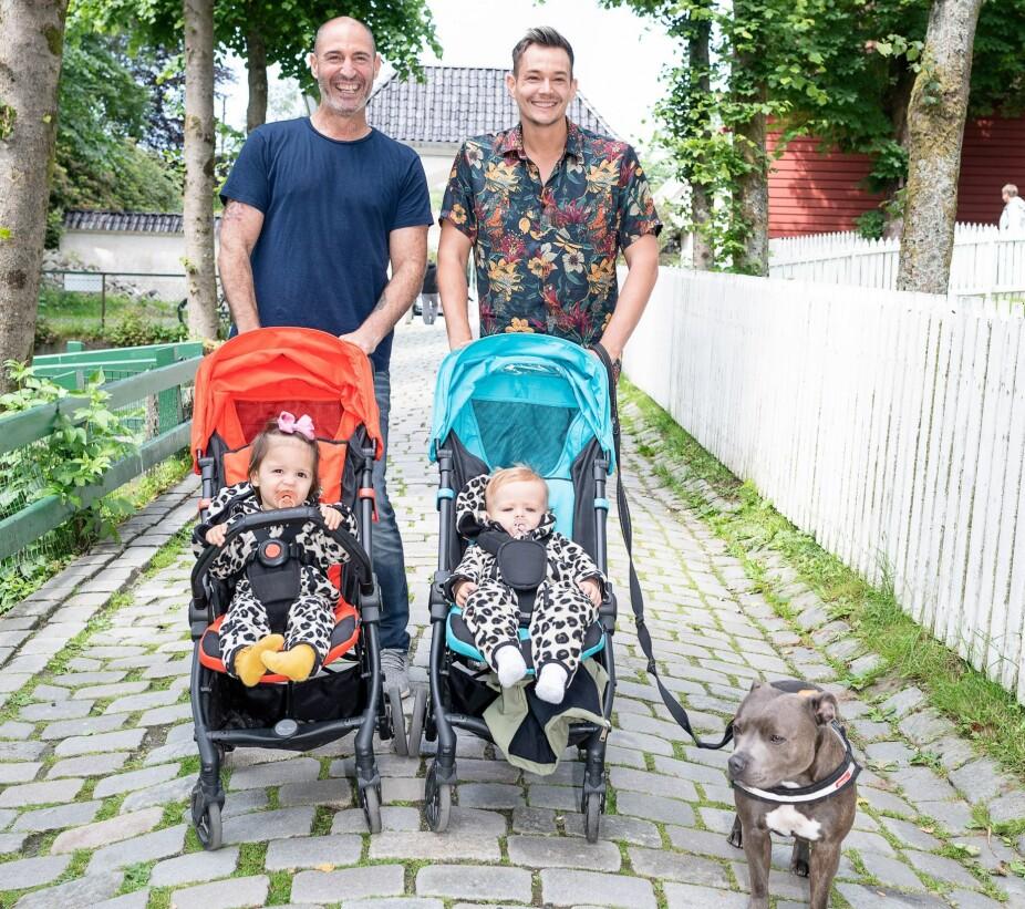 <b>SURROGATI:</b> Vi har alltid ønsket oss barn, og takket være en surrogat i Texas ble vi foreldre til tvillinger, forteller Alexander og Shlomi Ruimi-Askildsen.