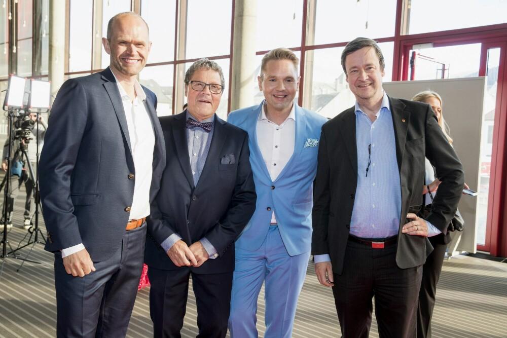 <b>PÅ GULLRUTEN:</b> Programmet var nominert til pris under Gullruten tidligere i år. Her er Rune Utne Reitan (f.v.), <br/>Asbjørn Hansen, Jens Christian Nørve og forsvarsadvokat John Christian Elden på den røde løperen.