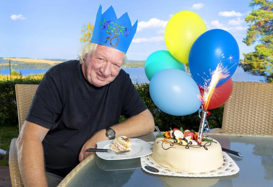 <b>POPULÆR JUBILANT:</b>– Det holder lenge å feire bursdagen med en bløtkake, mener den nybakte 70-åringen.