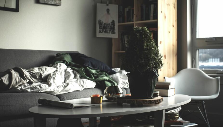 VI HAR FOR MYE! Det er jo ikke stuebordet det er noe i veien med, det er alt rotet i hylla under!