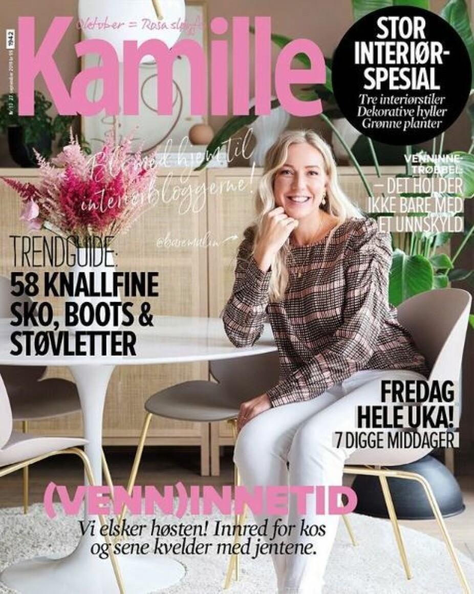 Inspirerende @baremalin er på forsiden av høstens interiørspesial fra Kamille.