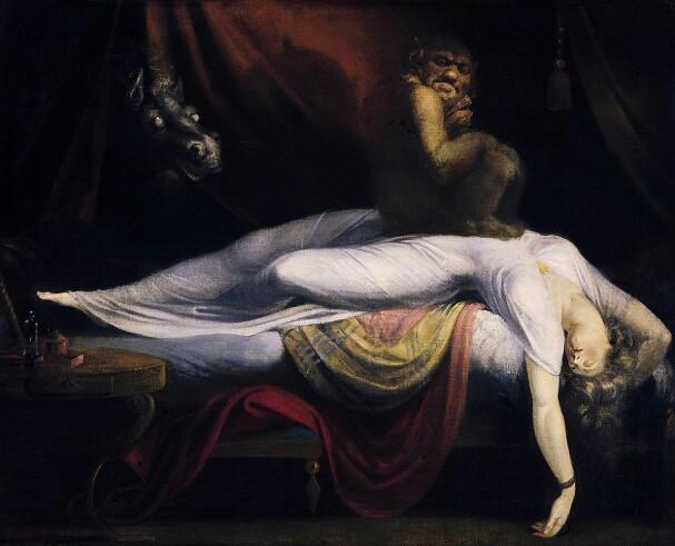 «Marerittet» (1781) av sveitiske Henry Fuseli er blitt brukt til å illustrere søvnparalyse i flere vitenskaplige artikler.
