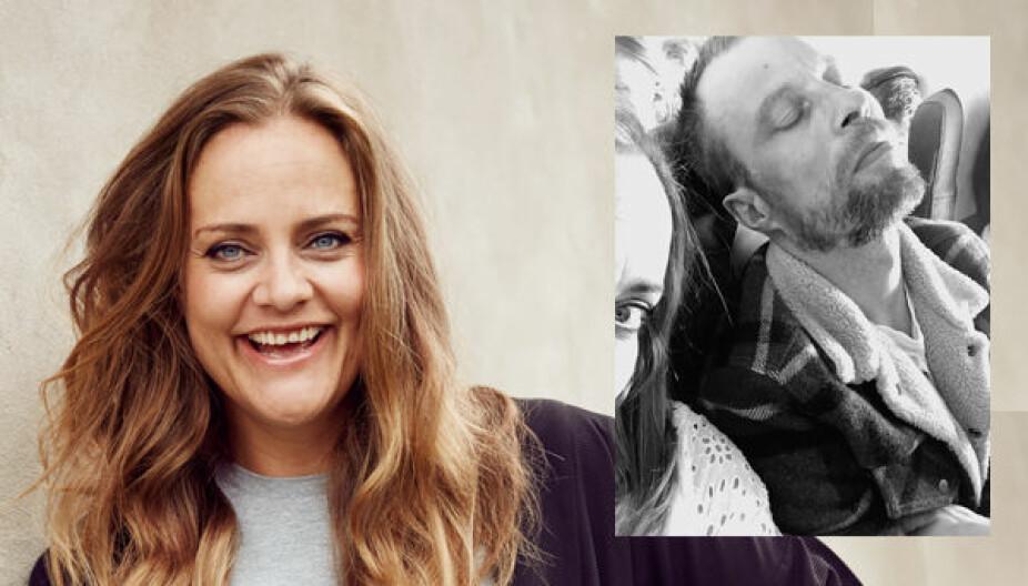SØVNPROBLEMER: Noen er velsignet med et godt sovehjerte ... andre ikke, skiver Henriette Steenstrup, som er fast spaltist i Kamille. Her med irriterende sovende mann på flytur.