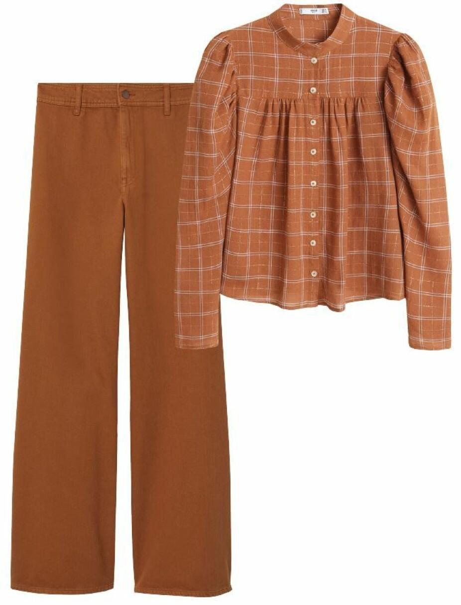 Bluse fra Mango, kr 399. Bukse fra H&M, kr 499.