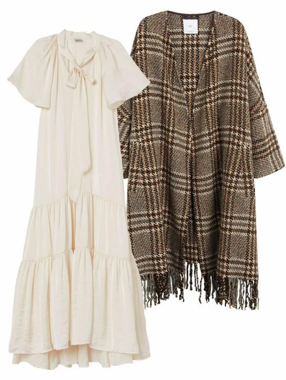 Kåpe fra Mango, kr 1199. Kjole fra H&M, kr 799.