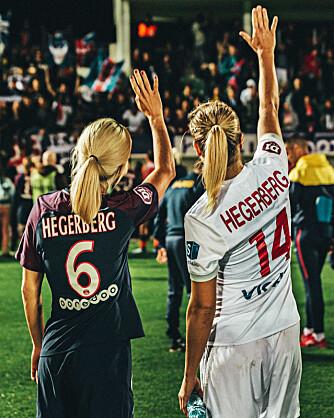 <b>SØSTRE I VERDENSKLASSE:</b> En midtbanespiller og en spiss, som selv når de spiller mot hverandre på hvert sitt lag, heier på hverandre og unner hverandre suksess.