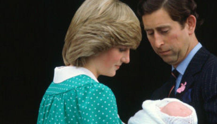 På vei hjem med William fra St. Mary's Hospitali 1982