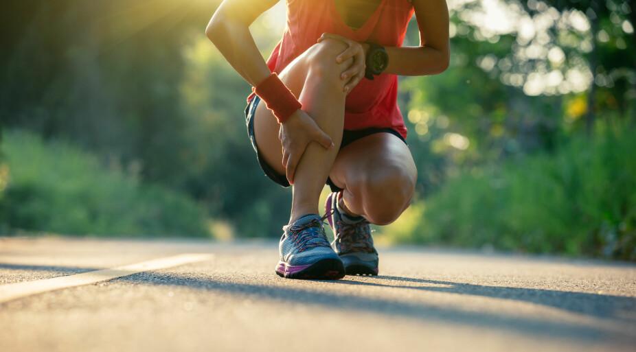 LØPING: Beinhinnebetennelse eller legghinnebetennelse oppstår gjerne hos dem som løper på hardt underlag.