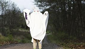Hjemmelaget spøkelseskostyme er enkelt å lage dersom du har et gammelt laken.