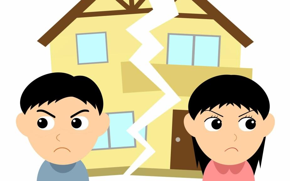 VANSKELIG : Å gå fra hverandre fører gjerne med seg mange problemstillinger man aldri har tenkt ordentlig igjennom, som for eksempel hvordan hytta skal fordeles.