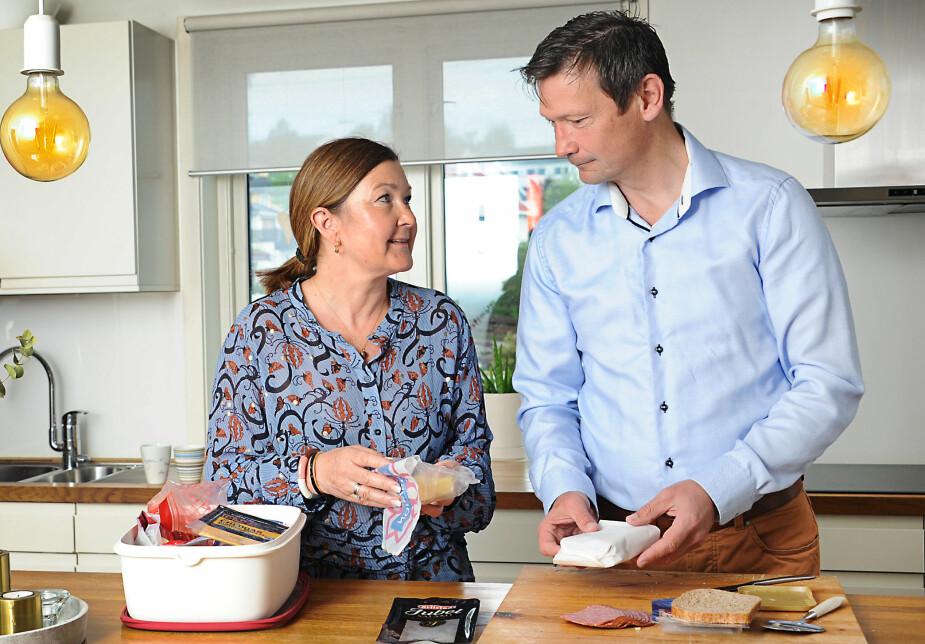 <b>NORMALT LIV:</b> Endelig har Nina og Morten kunnet ta hverdagen tilbake – inkludert matpakkesmøring om morgenen.