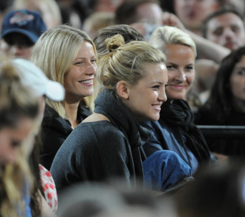 <b>VENNINNER:</b> Mette-Marit var på Madonnas konsert på Wembley sammen med Kate Hudson og Gwyneth Paltrow.