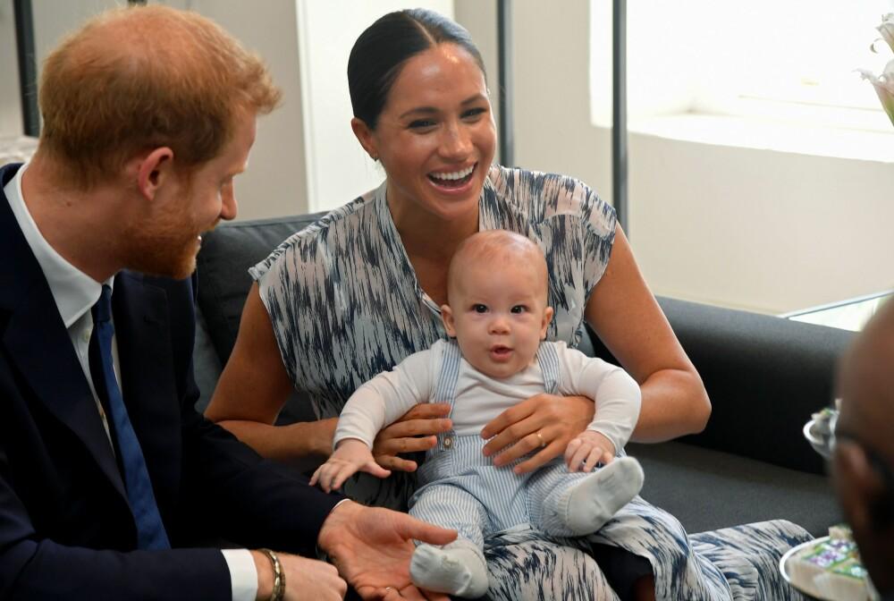 <b>I AFRIKA:</b> Da hertugparet av Sussex nylig var på rundreise i Afrika, var lille Archie også med. Nå skal den lille familien planlegge en ny tur til USA.