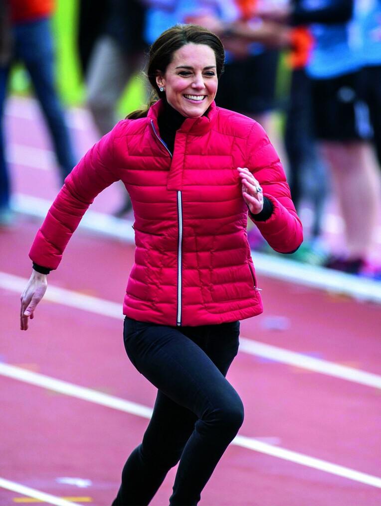 <b>LETT I STEGET:</b> Kate liker veldig godt å løpe, men vi får aldri se henne i et maraton. Ikke fordi hun ikke klarer det, men fordi hun ikke har lov til å delta i et offentlig arrangement.