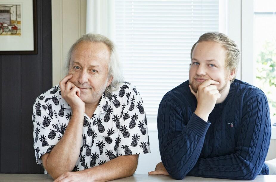 <b>FAR OG SØNN:</b> Levi Henriksen og sønnen Herman hjemme i huset hans i Kongsvinger.