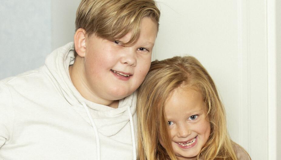 SØSKENKJÆRLIGHET: Sander og Lillabelle vokser opp som vanlige søsken, selv om de ikke har samme far.