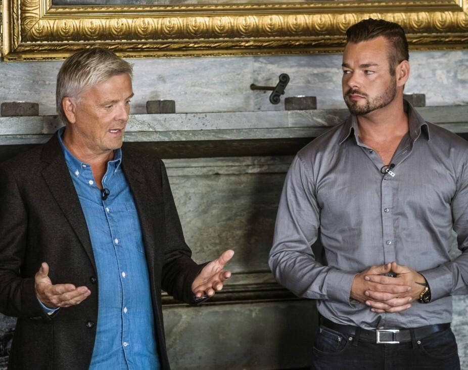 <b>TV-SUKSESS: </b>Michael Winger har vært en av de faste klarsynte i TV-serien «Åndenes Makt» siden 2016. Her sammen med programleder Tom Strømnæss (63).