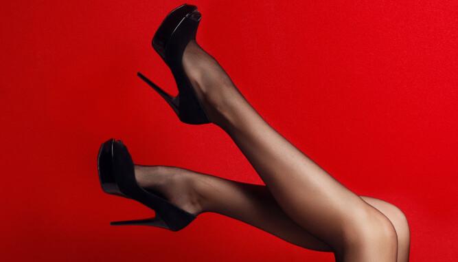 VANLIG FETISJ: Føtter, gjerne i kombinasjon med sexy sko og/eller nylonstrømper, er en veldig vanlig fetisj.