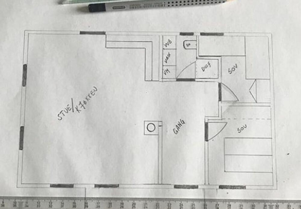 Zo werd de oplossing van de kamer in de oude en nieuwe hut.