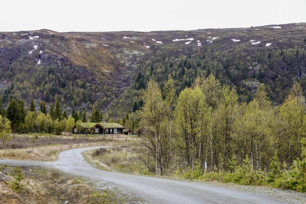 Vanuit de hut is er een prachtig uitzicht op Valsfjellet.