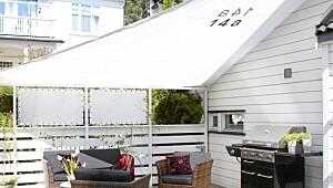 Ny terrasse med solseil