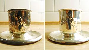 Slik vaskes sølvtøyet rent