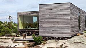Hytte som åpner opp mot naturen