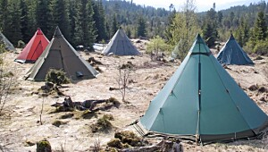 Disse teltene kan du tenne bål i