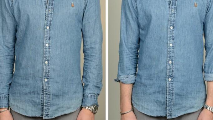 02f7400d Skjorteermene brettet opp eller ikke?
