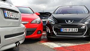 Fire herlige GTI-biler under 380 000 kroner