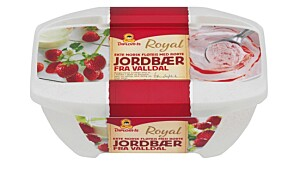 Diplomis Royal Fløteis med jordbær fraValldal