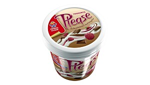 Hennig-Olsen Please Yoghurtis Melkesjokoladeis med bringebær