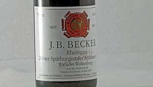 B. Becker Spätburgunder Spätlese Trocken Alte Reben 2004