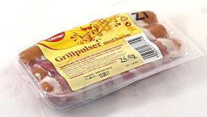 Coop grillpølser med bacon