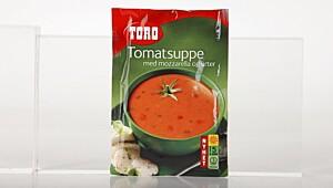 Toro tomatsuppe med mozzarella og urter