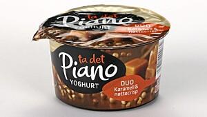 Piano Yoghurt Duo Karamell & nøttecrisp