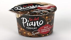 Piano Yoghurt Duo Cappuccino & mandelcrisp