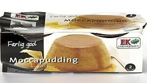 Ek Moccapudding med karamellsaus