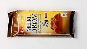 Freia Melkedrøm med kjeks, krem og sjokoladesaus