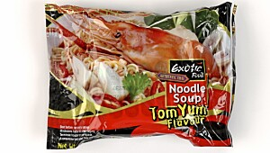 Exotic food Noodle soup Tom Yum flavour