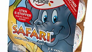 Yoplait Safari frukt- og bæryoghurt