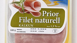 Filet naturell kalkun, Prior